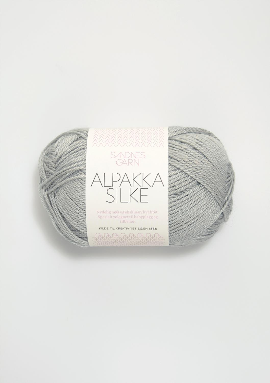 7521 Alpakka Silke Lys Gråblå