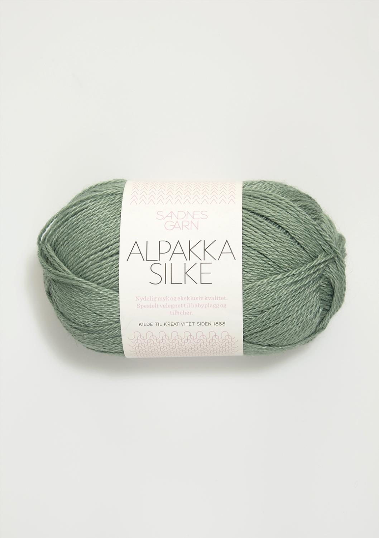 7741 Alpakka Silke Støvet Grønn