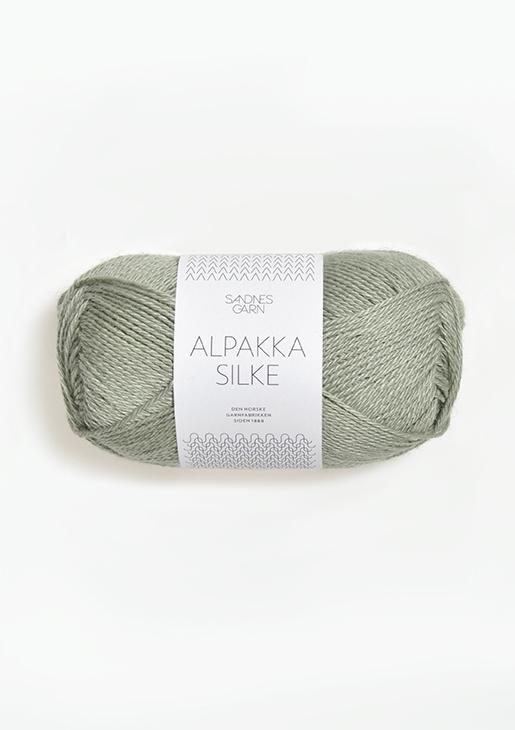 8521 Alpakka Silke Støvet Lys grønn