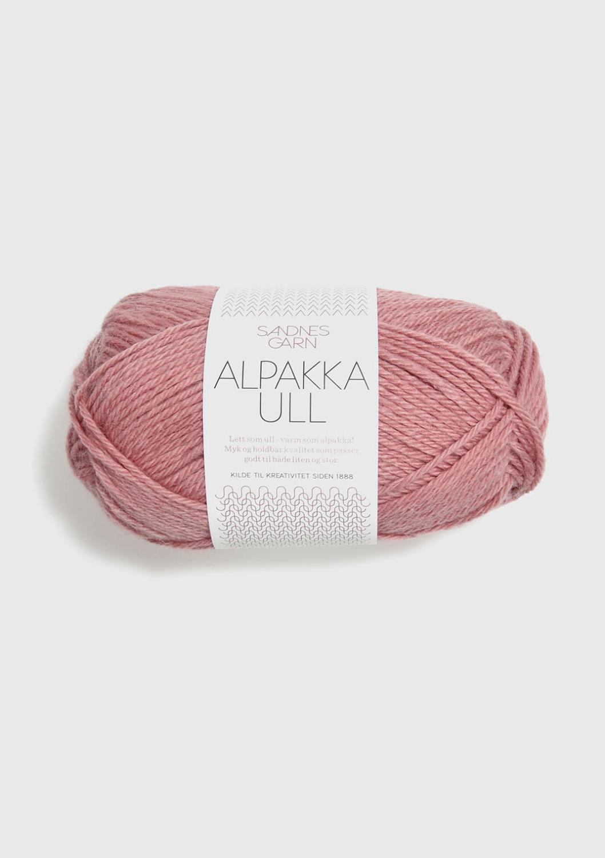 4023 Alpakka Ull Støvet Gammelrosa