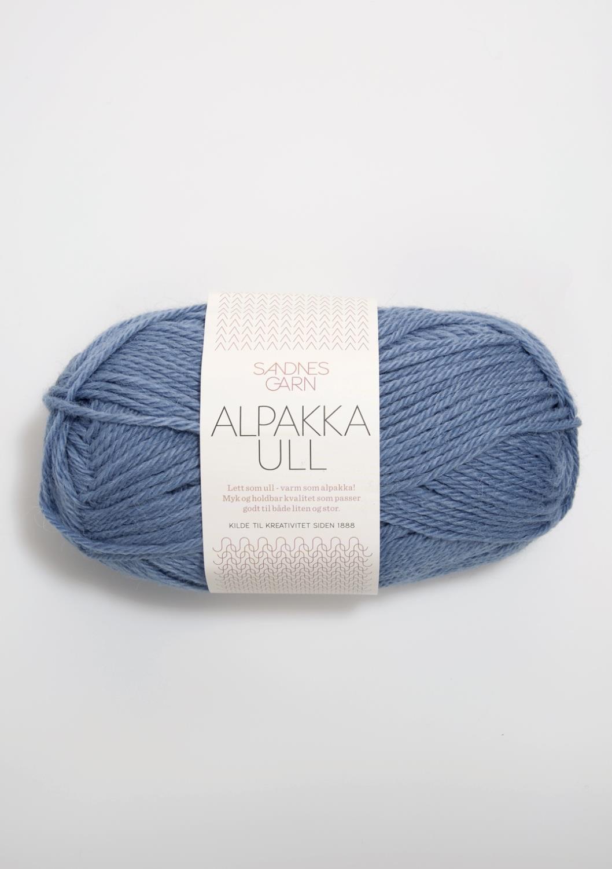 6052 Alpakka Ull jeansblå
