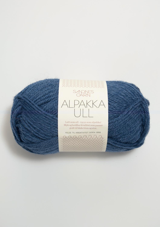 6364 Alpakka Ull Mørk Blå