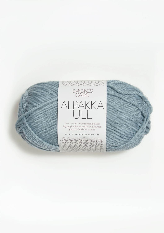 6531 Alpakka Ull Isblå