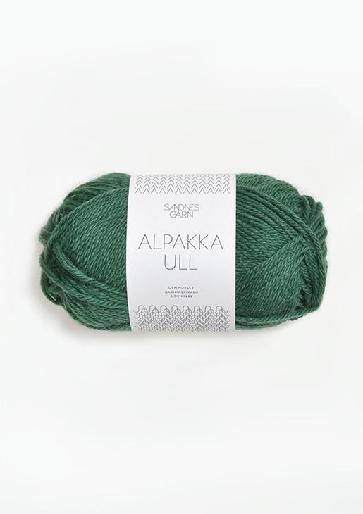 8063 Alpakka Ull Mørk Grønn