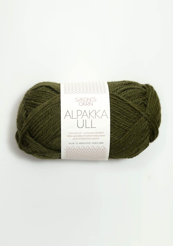 9573 Alpakka Ull Mosegrønn