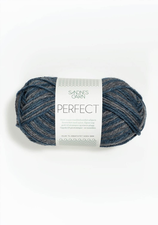 6562 Perfect Blå/Grå Print