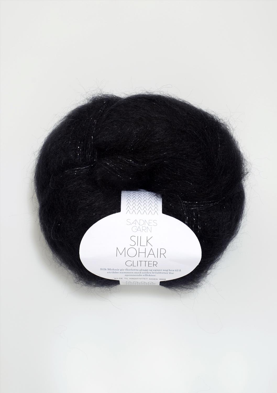 1099 Silk Mohair Svart