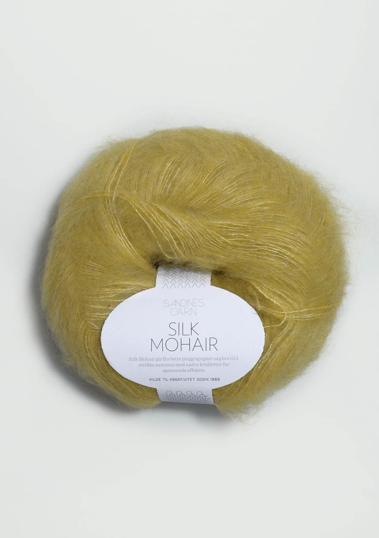 2024 Silk Mohair Gulgrønn