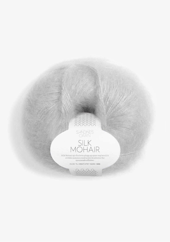 3820 Silk Mohair Lys Grå