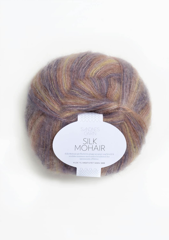 5150 Silk Mohair Lilla Print