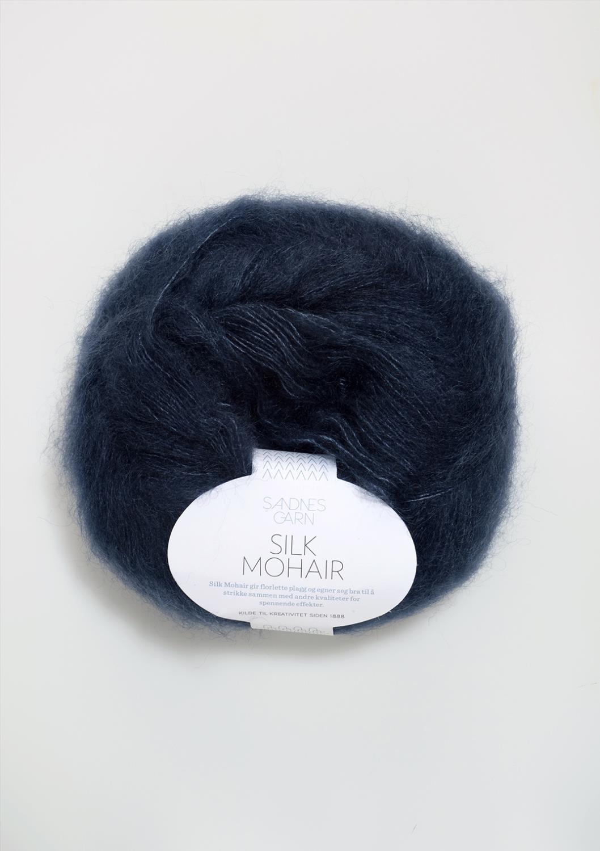 6081 Silk Mohair Dyp Blå