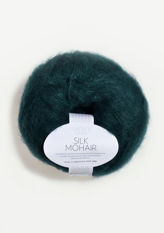 7272 Silk Mohair Dyp Petrol
