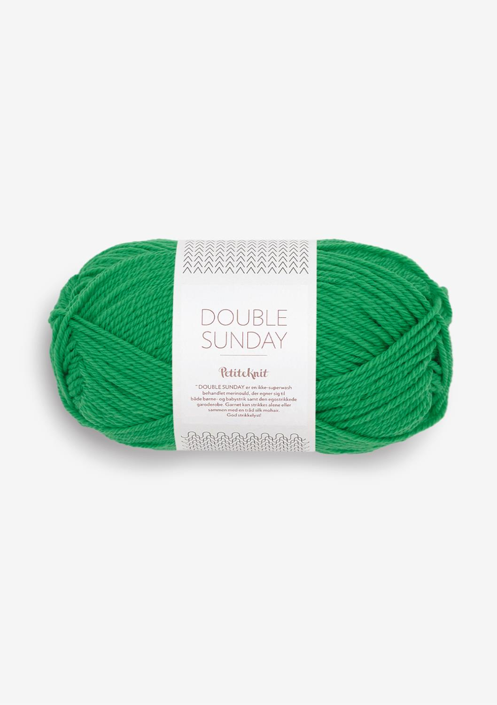 8236 PetitKnit DOUBLE SUNDAY Statment Green