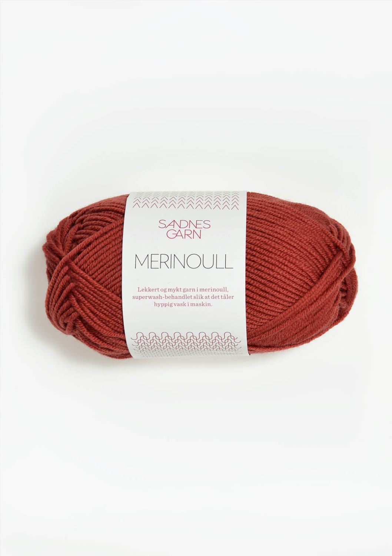 4035 Merinoull Mørk Terrakotta