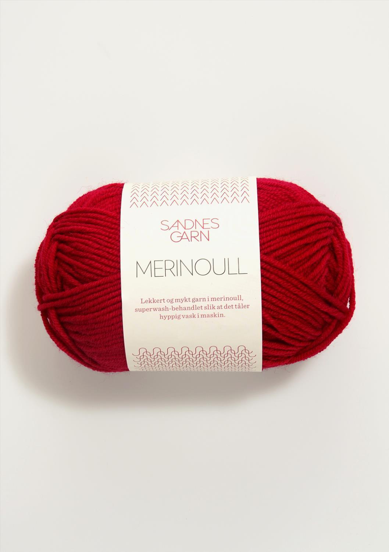 4219 Merinoull Rød