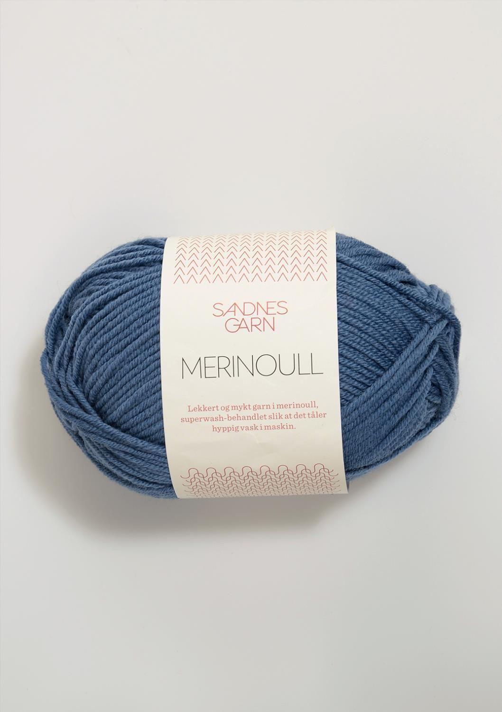 6052 Merinoull Jeansblå