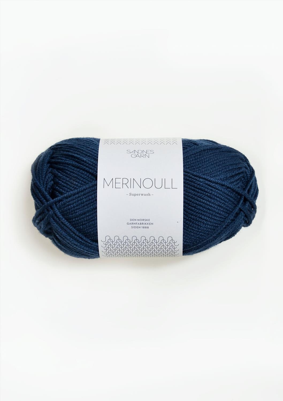 6062 Merinoull Mørk Blå