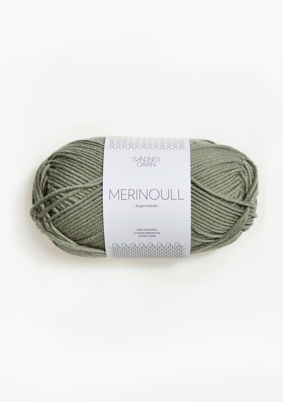 8521 Merinoull Støvet Lys Grønn