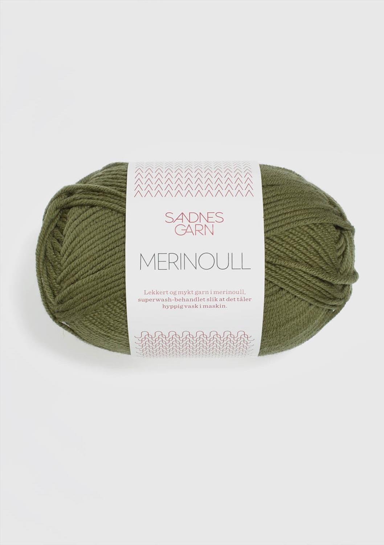 9364 Merinoull Olivengrønn