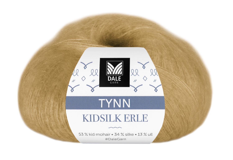 Tynn Kidsilk Erle - Ravgul