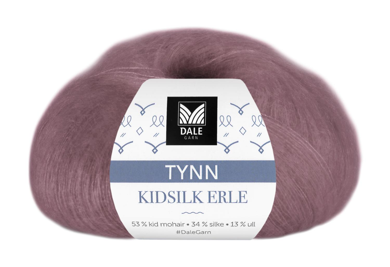 Tynn Kidsilk Erle - Mørk rose