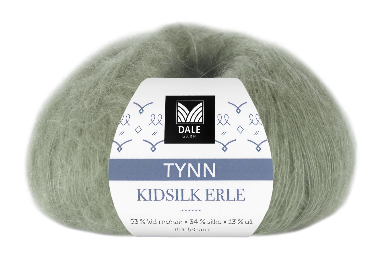 Tynn Kidsilk Erle - Jadegrønn