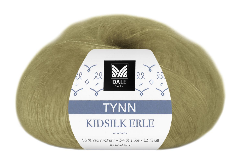 Tynn Kidsilk Erle - Lys Oliven