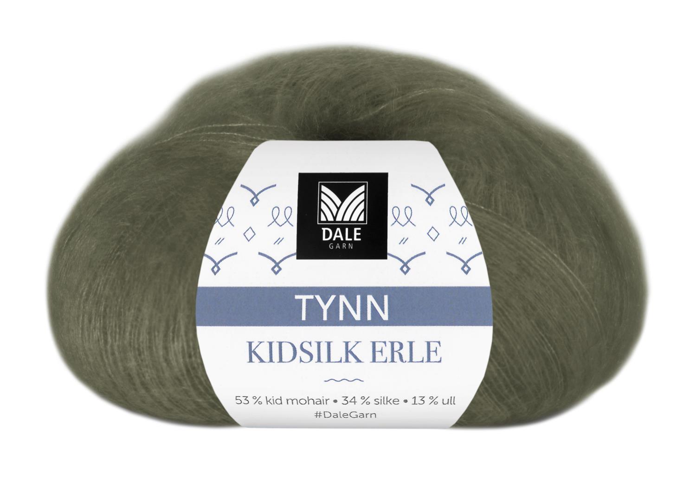 Tynn Kidsilk Erle - Armygrønn