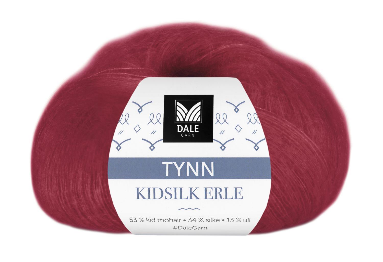 Tynn Kidsilke Erle - Dyp rød