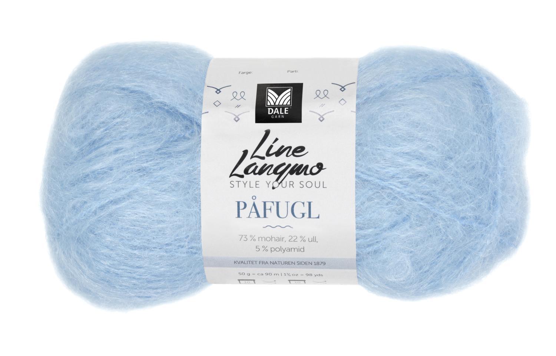 Line Langmo Påfugl - Isblå