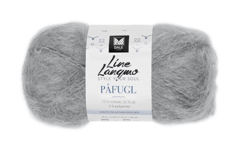 Line Langmo Påfugl - Stålgrå