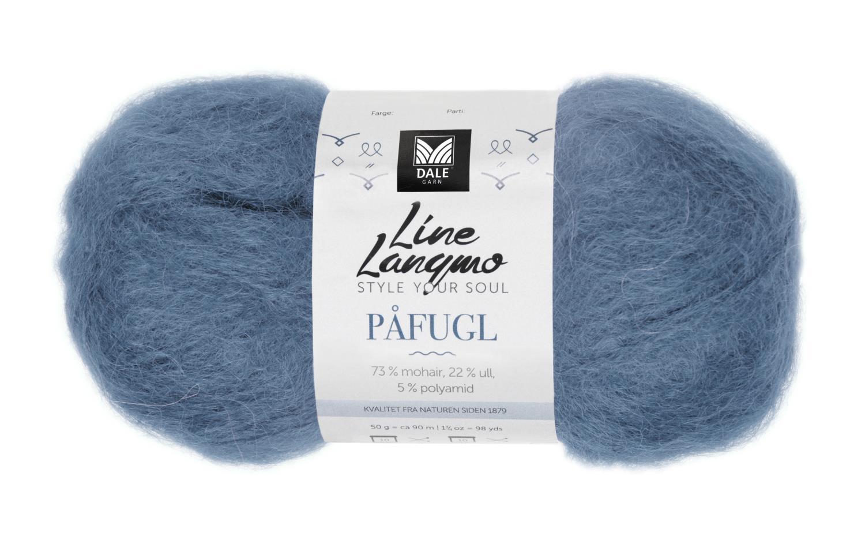 Line Langmo Påfugl - Denimblå