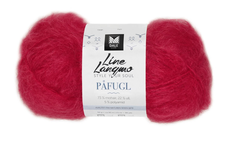 Line Langmo Påfugl - Rød