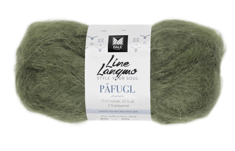 Line Langmo Påfugl - Armygrønn