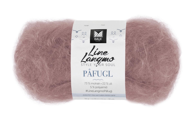 Line Langmo Påfugl - Dus rosa