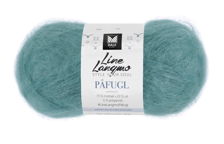Line Langmo Påfugl - Aqua grønn