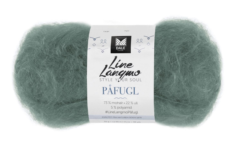 Line Langmo Påfugl - Mørk jadegrønn