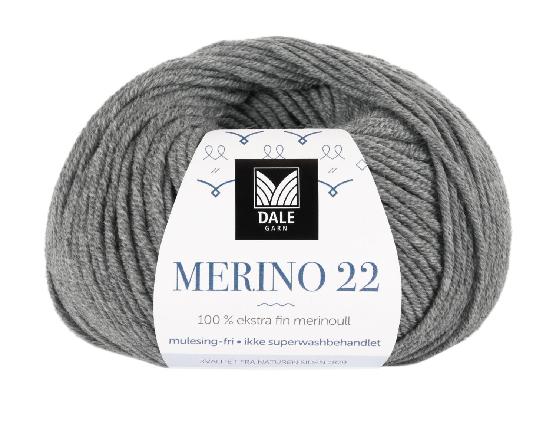 Merino 22 - Grå melert