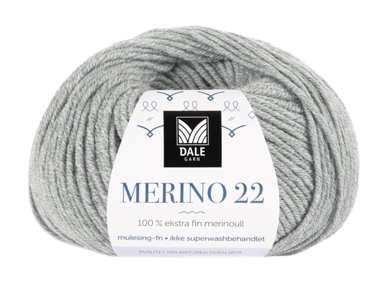 Merino 22 - Lys grå melert