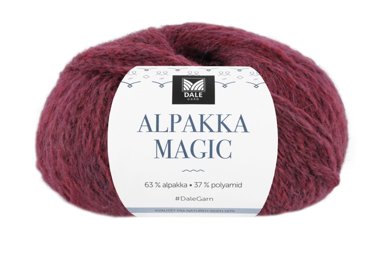Alpakka Magic - Vinrød