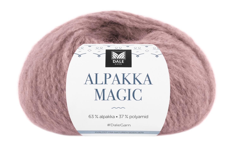 Alpakka Magic - Mørk rose