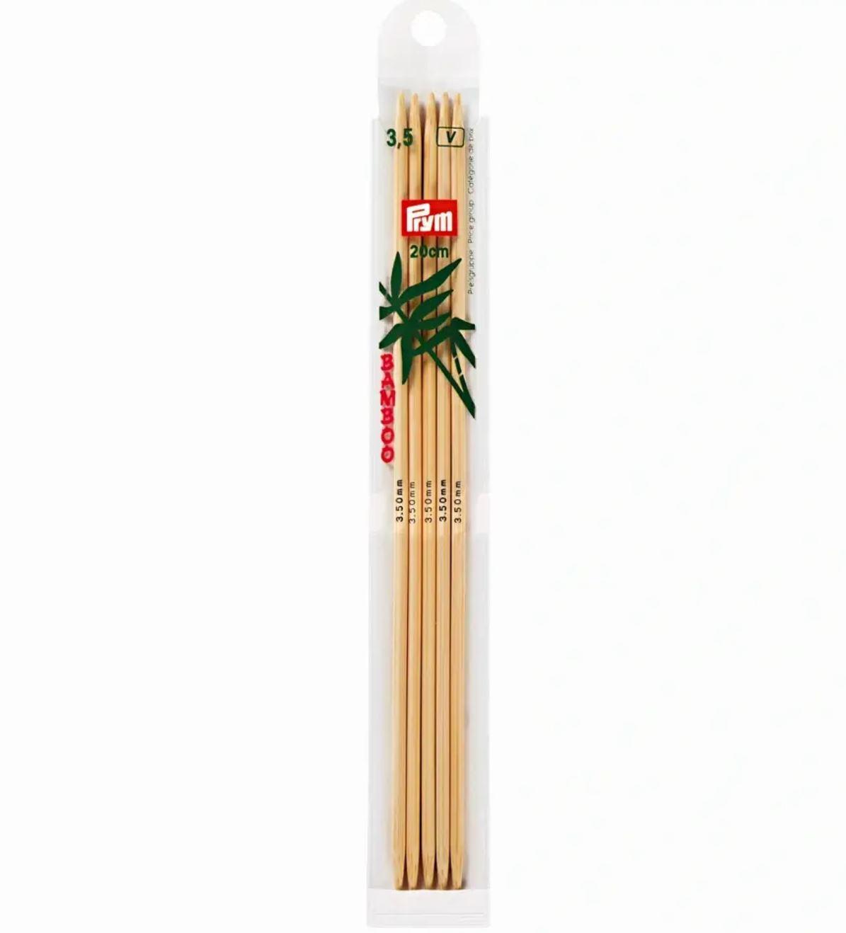 Prym Bamboo Settpinne 5stk - Bambus - 3,5 - 20cm