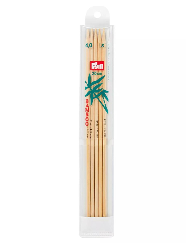 Prym Bamboo Settpinne 5stk - Bambus - 4,0 - 20cm