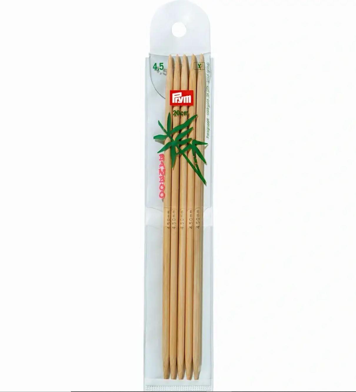 Prym Bamboo Settpinne 5stk - Bambus - 4,5 - 20cm