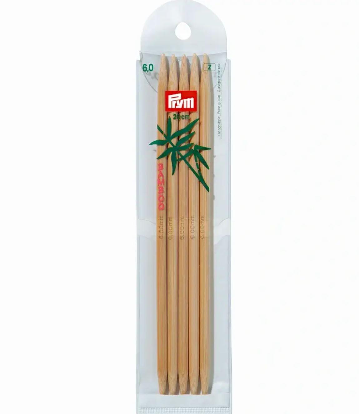 Prym Bamboo Settpinne 5stk - Bambus - 6,0 - 20cm