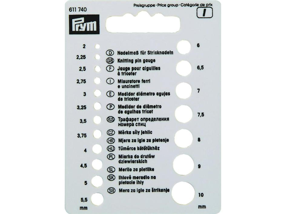 Prym Strikkepinnemåler 2-10mm