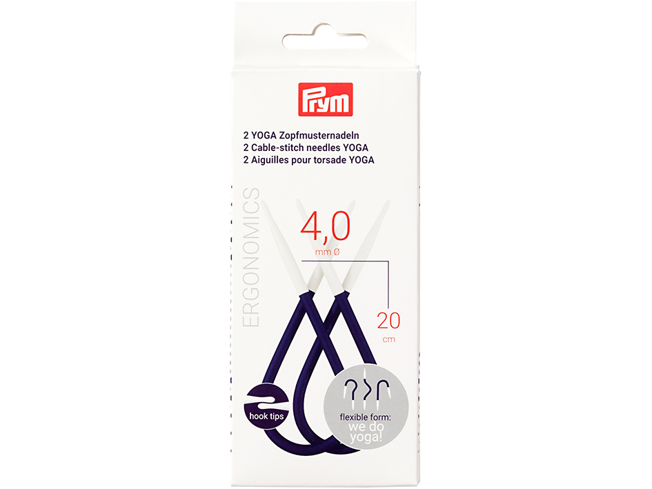 Prym YOGA Flettepinne - 4,0mm - 20cm - 2stk