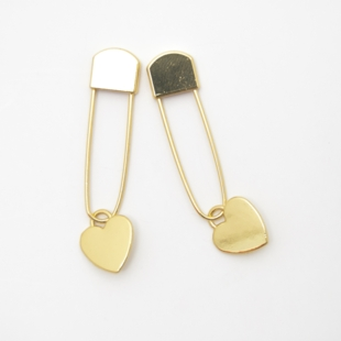 Maskemarkør gull/hjerte 105 - 2 stk