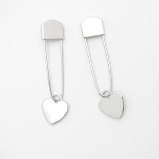 Maskemarkør sølv/hjerte 106 - 2 stk