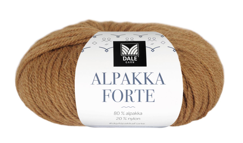 Alpakka Forte - Currygul melert